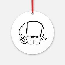 Cafe Elefant-1 Ornament (Round)