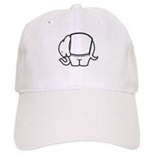 Cafe Elefant-1 Baseball Cap