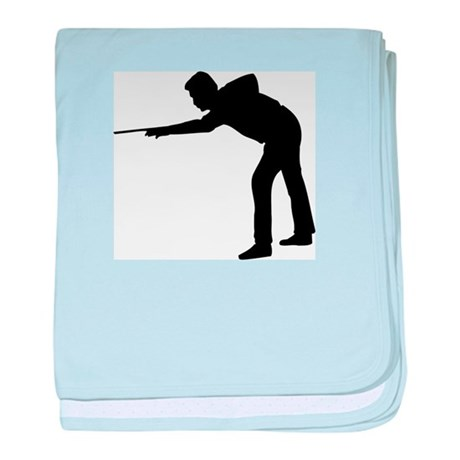 Pool Player Silhouette baby blanket