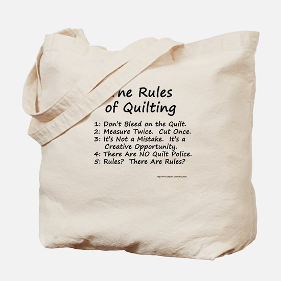 The Rules of Quilting Tote Bag