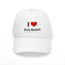 I Love Jack Rabbit Cap