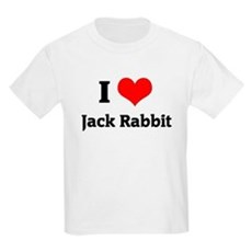 I Love Jack Rabbit Kids T-Shirt