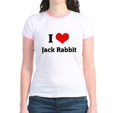 I Love Jack Rabbit Jr. Ringer T-Shirt