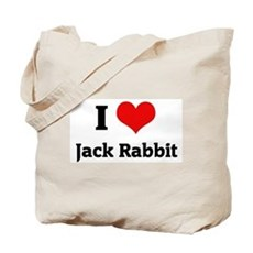 I Love Jack Rabbit Tote Bag