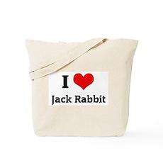I Love Jack Rabbit Tote Bag