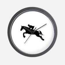 Horse Jumping Silhouette Wall Clock