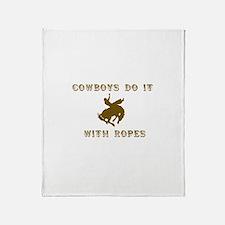 Cowboys Ride Throw Blanket
