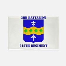 DUI - 3rd Bn - 315th Regt with Text Rectangle Magn