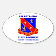 DUI - 1st Bn - 322nd Regt (LS) with Text Decal