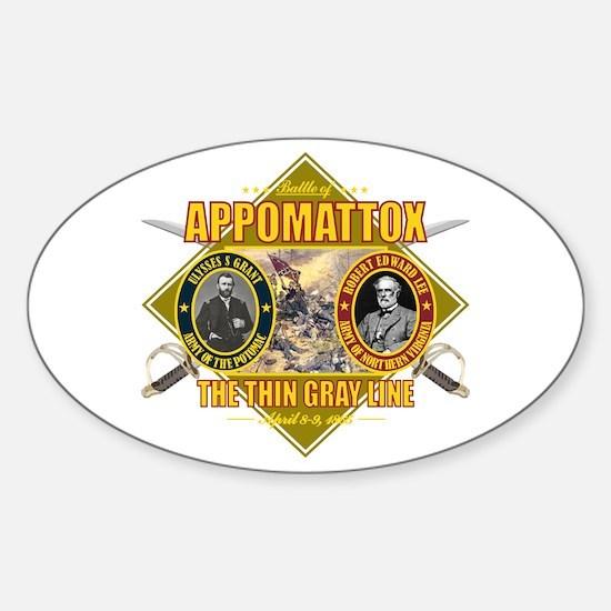 Appomattox Sticker (Oval)