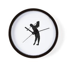 Golfing Silhouette Wall Clock