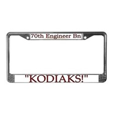 70th Engineer Bn License Plate Frame