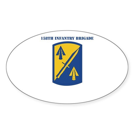 SSI - 158th Infantry Brigade with Text Sticker (Ov