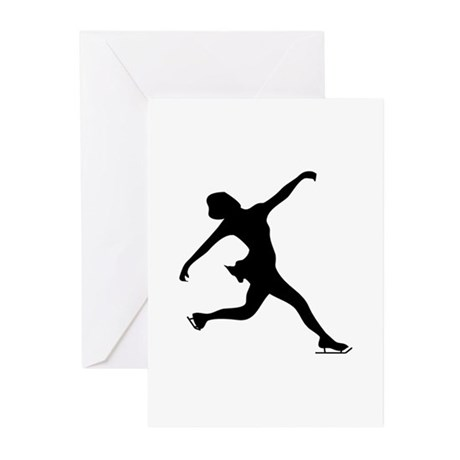 Figure Skating Silhouette Greeting Cards (Pk of 10