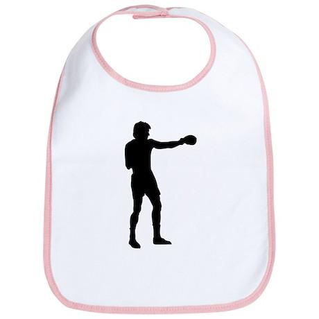 Boxing Punch Silhouette Bib