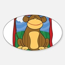 Mischievous Monkey with Border Decal