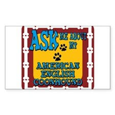 American English Coonhound Decal