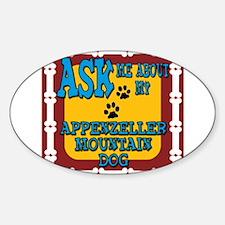 Appenzeller Mountain Dog Sticker (Oval)