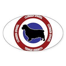 Clumber Spaniel Bullseye Decal