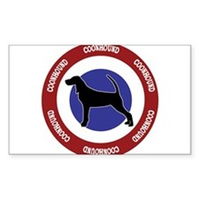 Coonhound Bullseye Decal