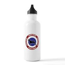 Doberman Pinscher Bullseye Water Bottle