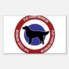 Cute Flat coated retriever Decal