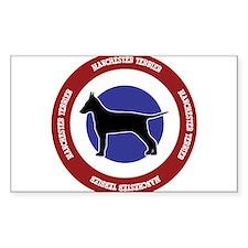 Manchester Terrier Bullseye Decal