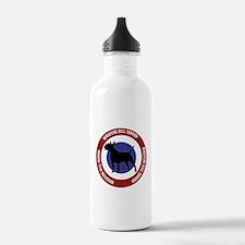 Cute Miniature bull terrier Water Bottle