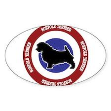 Norfolk Terrier Bullseye Decal