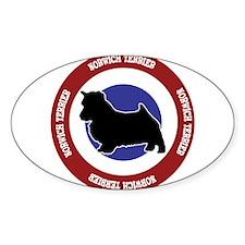 Norwich Terrier Bullseye Decal