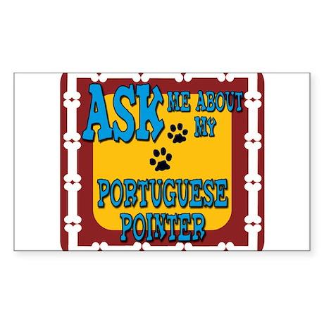 Portuguese Pointer Sticker (Rectangle)