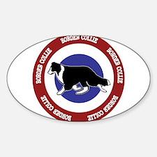 Border Collie Bullseye Decal