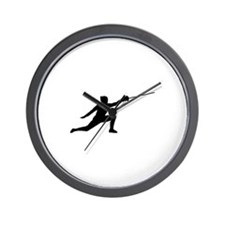 Fencing Lunge Wall Clock