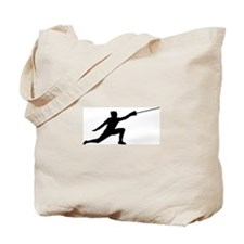Fencing Lunge Tote Bag