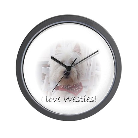 I love westies Wall Clock