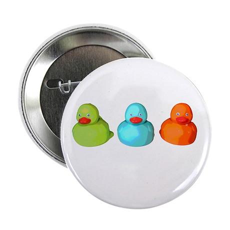 "Three Rubber Ducks 2.25"" Button (10 pack)"