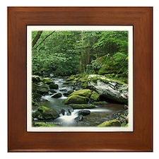 Rock Stream Gatlinburg TN Framed Tile