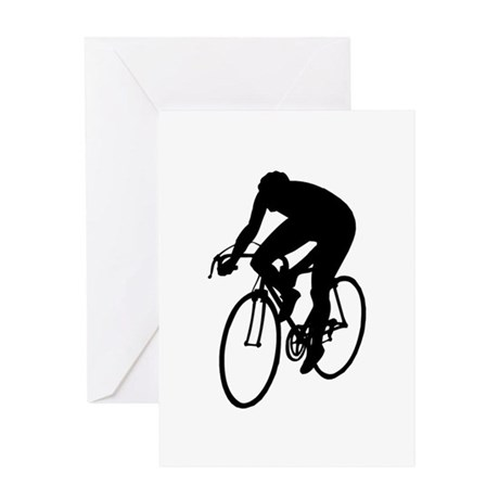 Cycling Silhouette Greeting Card