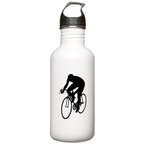 Cycling Silhouette Stainless Water Bottle 1.0L
