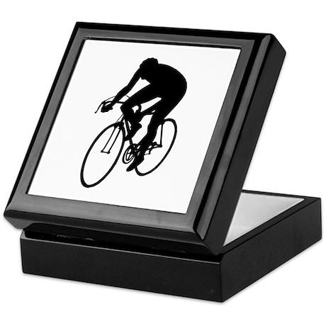 Cycling Silhouette Keepsake Box