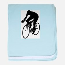 Cycling Silhouette baby blanket