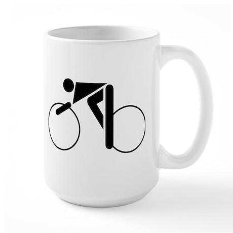 Cycling Silhouette 2 Large Mug