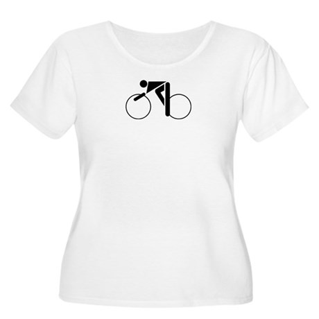 Cycling Silhouette 2 Women's Plus Size Scoop Neck
