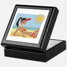Female Sunbather Keepsake Box