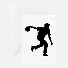 Bowling Silhouette Greeting Card