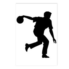 Bowling Silhouette Postcards (Package of 8)