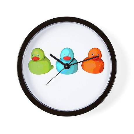 Three Rubber Ducks Wall Clock