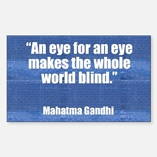 GANDHI - EYE FOR AN EYE Rectangle Bumper Stickers