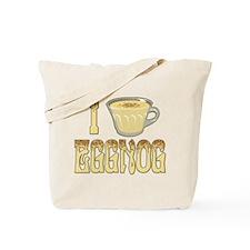 I Love Eggnog Tote Bag
