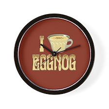 I Love Eggnog Wall Clock